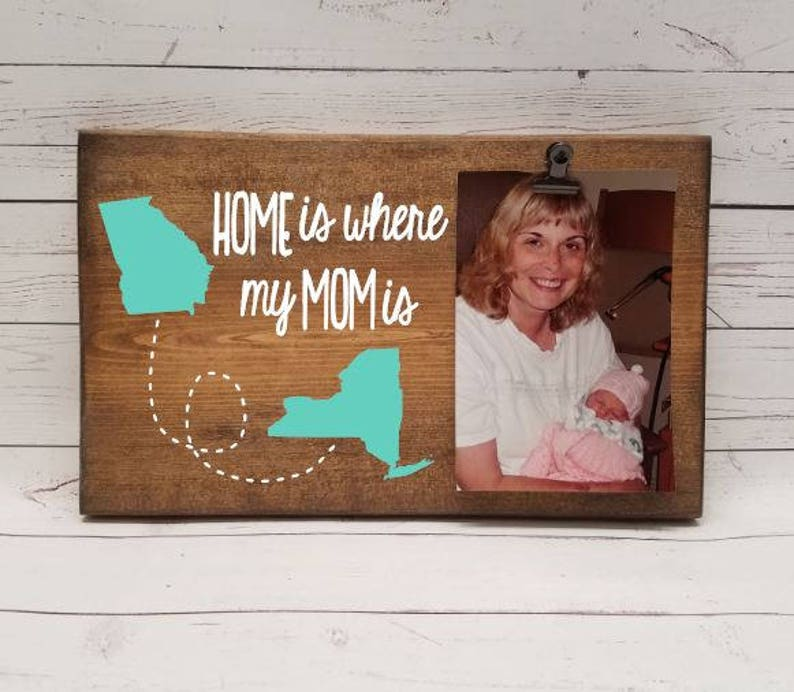 Home is where my MOM is customizable Long Distance Picture image 0