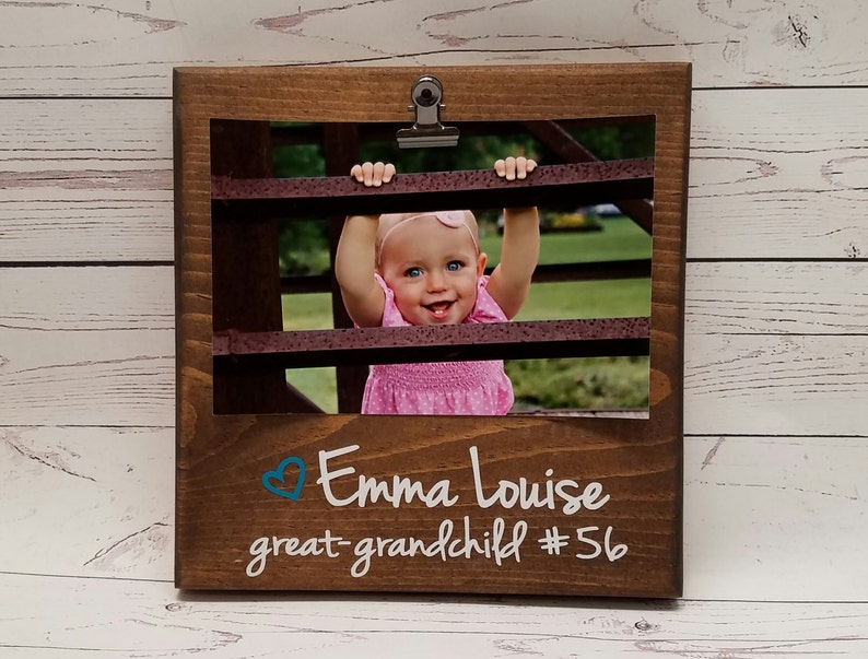 Grandchild Number Picture Frame gift Gift for dad photo image 0