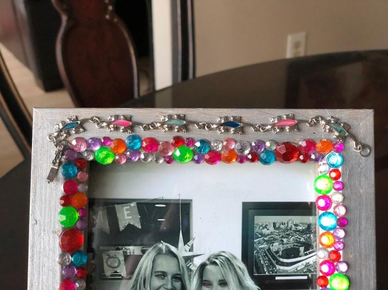 Jeweled Frame 5x7. Teen Room Decor Gecko Silver Frame Kids Room Decor Fun Bedroom Decor