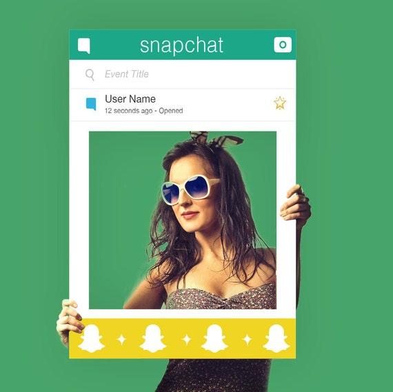 SnapChat marco Photobooth Prop diseño personalizado impreso | Etsy