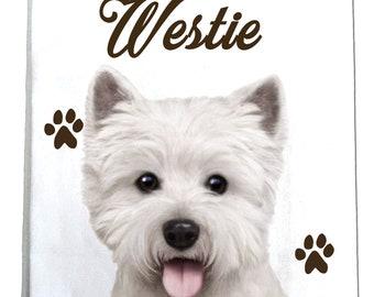 Westie Kitchen Towel / Tea Towel - Westie Gifts - Perfect for Kitchen Use - 100% Cotton - Machine Washable