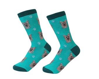 12586f0522c Yorkie Socks - 200 Needle Count - Cotton Socks - Life Like Detail of Yorkie  - Size Women s (5-11) Men s( 6-10)