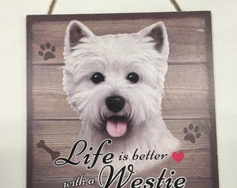 Westie Gifts, Westie Wood Sign