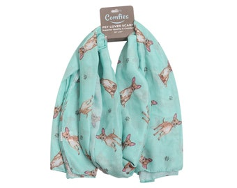 Chihuahua mum gifts Chihuahua lovers gifts Chihuahua dog print scarf for women
