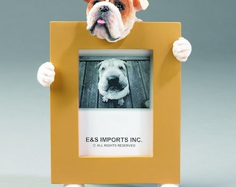French Bulldog Portrait Picture Frame 6 x 4 With Hand Cast Pewter Motif Mother/'s Day Father/'s Day Christmas Gift