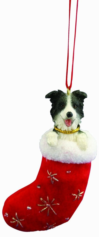 Collie Silhouette Dog Ornament