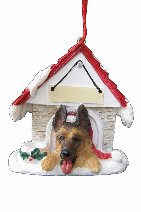 German Shepherd Christmas Ornament With Magnetic Back Etsy