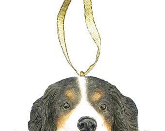 Bernese Mountain Dog Ornament With Personalized Name Plate A Great Gift For Bernese Mountain Dog Lovers