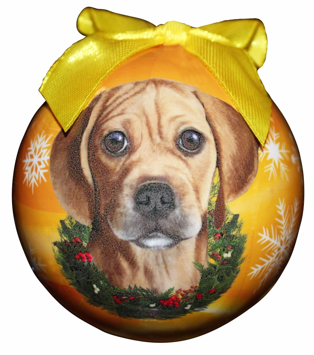Puggle Christmas Ornament Shatter Proof Ball Easy To