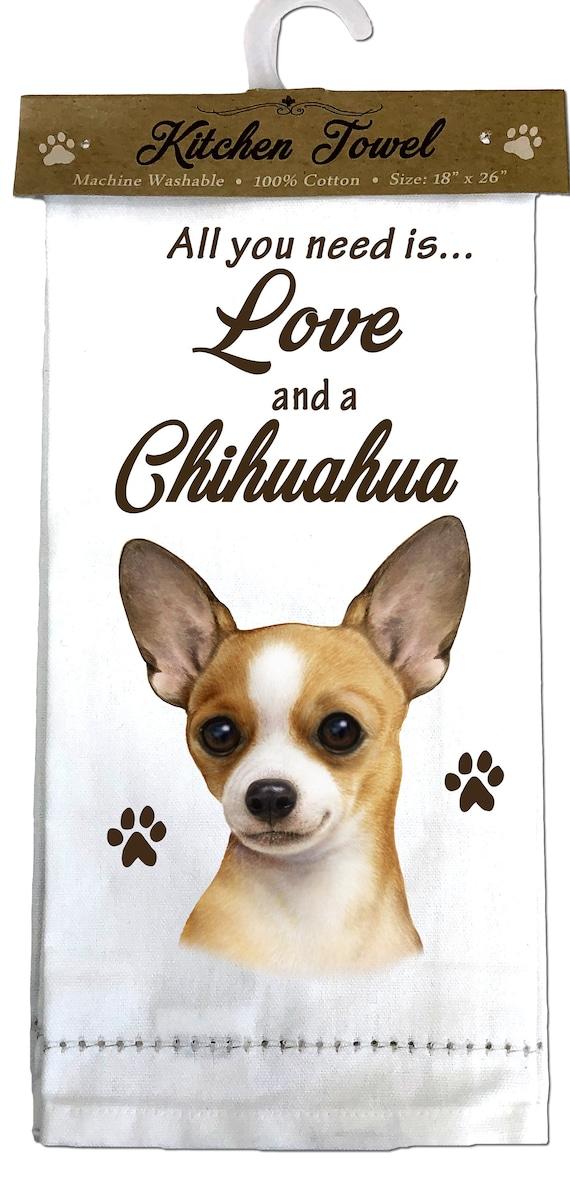 Chihuahua  Kitchen Towel  Tea Towel Perfect for Kitchen Use Machine Washable Chihuahua Gifts 100/% Cotton