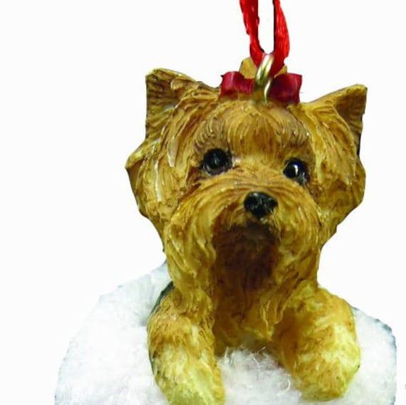 Yorkshire Terrier in Santa Boot Ornament