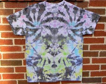 Pastel Negative Space Tie Dye T-Shirt (L)