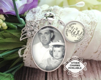 Lapel Photo Pin Red Bird Wedding Bouquet Photo Pin Remember That I Am Always With You