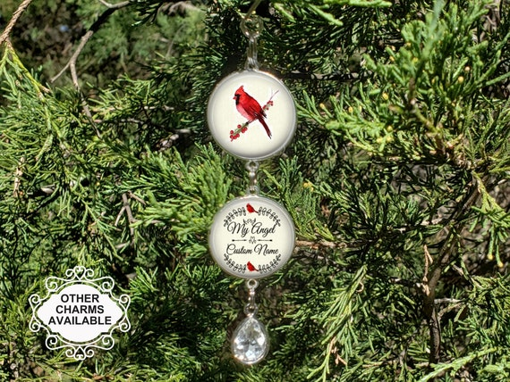 Red Bird Cardinal Christmas Tree Memorial Ornament Charm Etsy