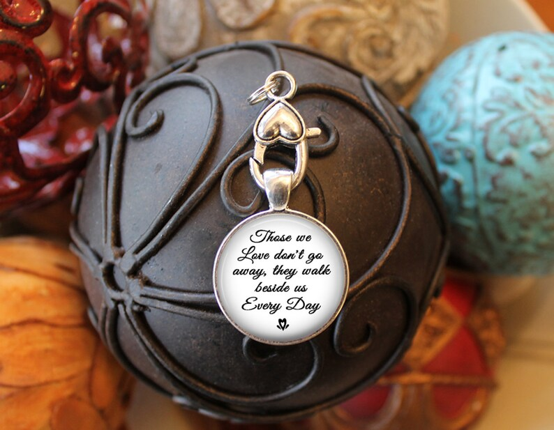 Wedding Date Charm Those We Love Don/'t Go Away They Walk Beside Us Every Day Bridal Bouquet Photo Charm