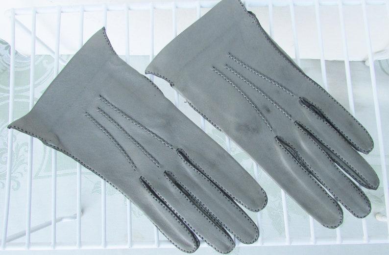 dff386450 Vintage 1960's Gray Leather Gloves / Women's / Ladies | Etsy