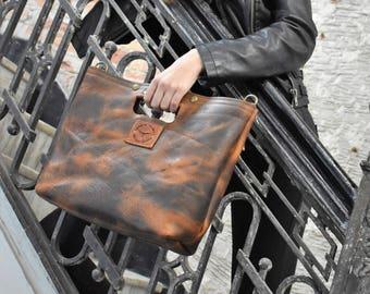 No. 16 Wheat- Leather Shoulder/Handbag