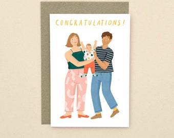 Illustrated New Baby Congratulations A6