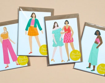 A6 Illustrated Postcard Prints Pack of 4