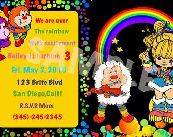 Rainbow Brite Invite