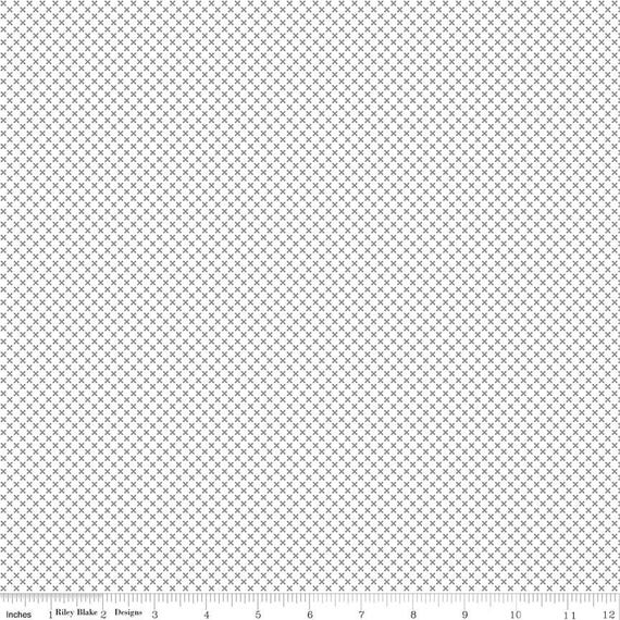 Kisses- 1/2 Yard Increments, Cut Continuously-C220 Gray by Doodlebug Design Inc. for  Riley Blake Designs