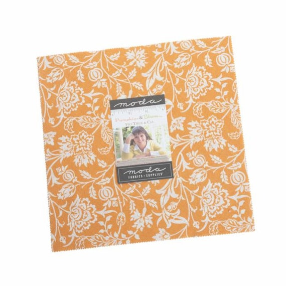 Pumpkins and Blossoms- Layer Cake (20420LC- 42 fabrics) by Fig Tree for Moda