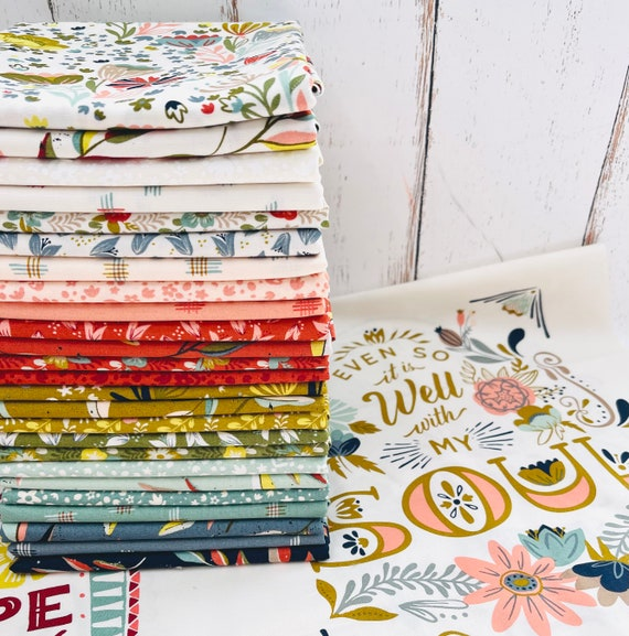 Songbook- 1/2 Yard Bundle (25 Fabrics with Large Panel Included) Fancy that Design House for Moda