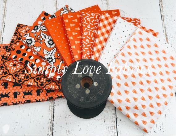 Midnight Magic 2 -Fat Quarter Bundle  (10 Orange Fabrics) by April Rosenthal for Moda