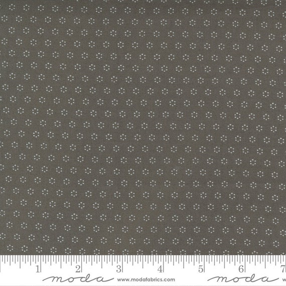 Pumpkins and Blossoms- 1/2 Yard Increments, Cut Continuously  (20428 17 Polka Dot Circle - Charcoal) by Fig Tree & Co. for Moda