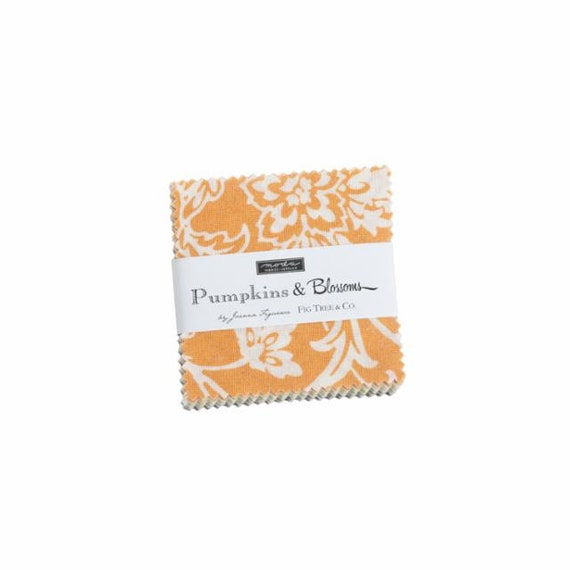 Pumpkins and Blossoms- MINI Charm Pack (20420MC- 42 fabrics) by Fig Tree for Moda