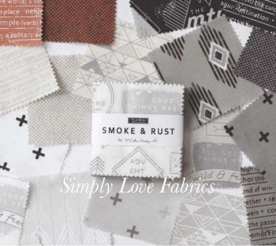 Smoke and Rust- MINI Charm Pack (5130MC-42 Fabrics) by Lella Boutique for Moda