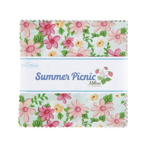 "Summer Picnic - 5"" Stacker 5-10750 (42 Fabrics) by Melissa Mortenson for Riley Blake Designs"