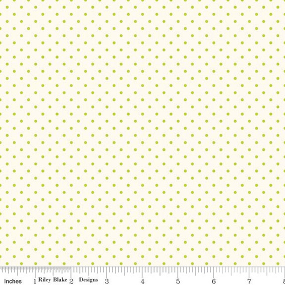 La Creme Swiss Dot LIME by Riley Blake Designs- C600-32- 1/2 yard Increments, Cut Continuously