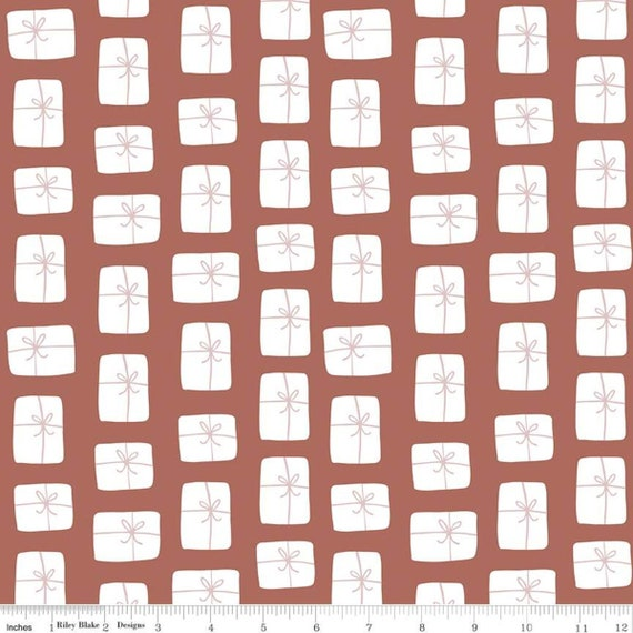 Warm Wishes -1/2 Yard Increments, Cut Continuously - (C10784 Redwood Packages) by Simple Simon and Company
