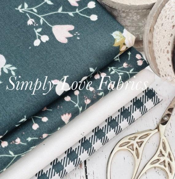 Hidden Cottage- 1/2 Yard Bundle (4 Fabrics Forest Main) by Minki Kim for Riley Blake Designs