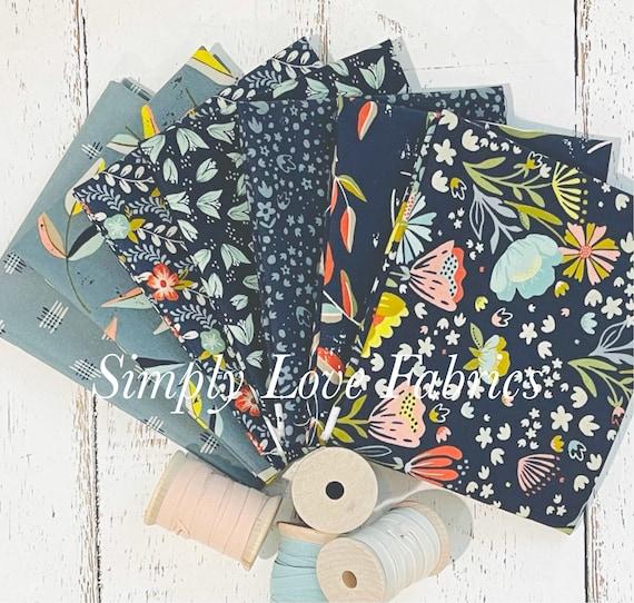 Songbook- Fat Quarter Bundle (7 Fabrics Navy) Fancy that Design House for Moda