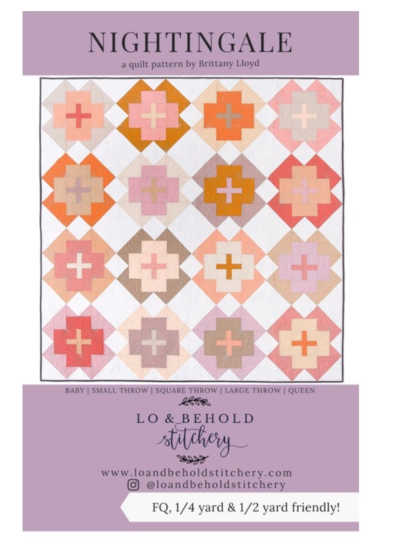Nightingale PAPER Pattern (LBS 119) by Lo and Behold Stitchery- Pattern includes 5 Size Options