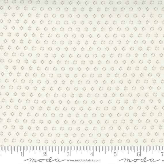 Pumpkins and Blossoms- 1/2 Yard Increments, Cut Continuously  (20428 26 Polka Dot Circle - Vanilla Pebblel) by Fig Tree & Co. for Moda