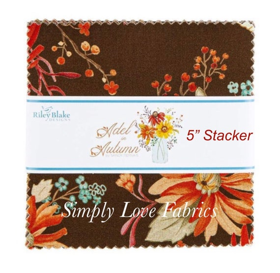"""Adel in Autumn - 5"""" Stacker (5-10820-42) by Sandy Gervais for Riley Blake Designs"""