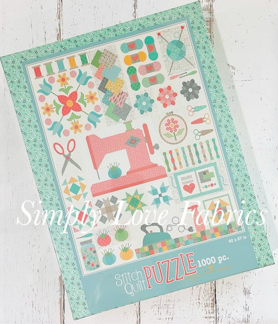 Stitch Quilt Puzzle-1000 Pieces- ST-21960 By Lori Holt of Bee in My Bonnet for Riley Blake Designs