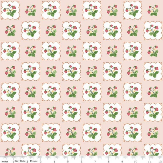 Summer Picnic - 1/2 Yard Increments, Cut Continuously - C10751 Pink Tablecloth by Melissa Mortenson for Riley Blake Designs