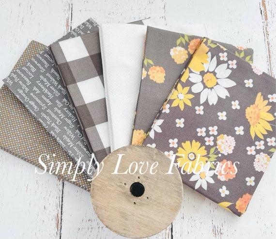 Cozy Up- Fat Quarter Bundle (6 Charcoal Fabrics) by Corey Yoder for Moda Fabrics
