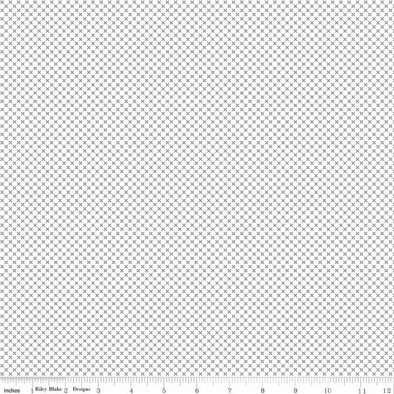 Kisses- 1/2 Yard Increments, Cut Continuously- SC220 Silver (in Sparkle Cotton) by Doodlebug Design Inc. for  Riley Blake Designs