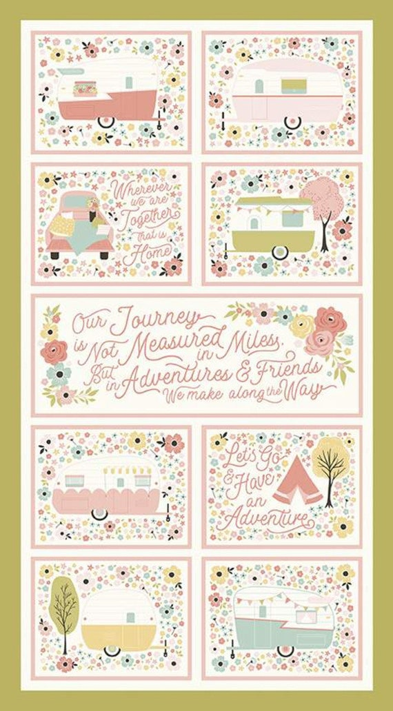 """Joy in the Journey-  C10686 - Olive Joy in the Journey Panel 24"""" x 43 1/2"""" by Dani Mogstad for Riley Blake Designs"""