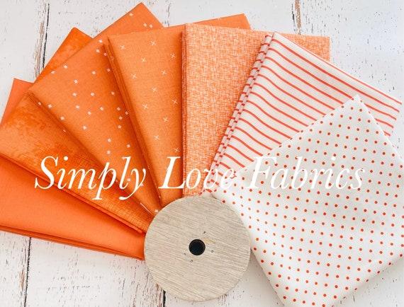 Fall Basics Fat Quarter Bundle- 7 Pumpkin Fabrics- Riley Blake Designs