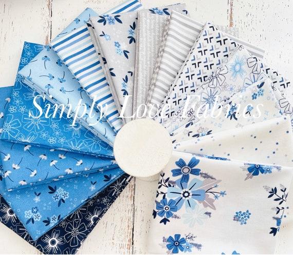 Blue Stitch- Fat Quarter Bundle (14 Fabrics) by Christopher Thompson for Riley Blake Designs
