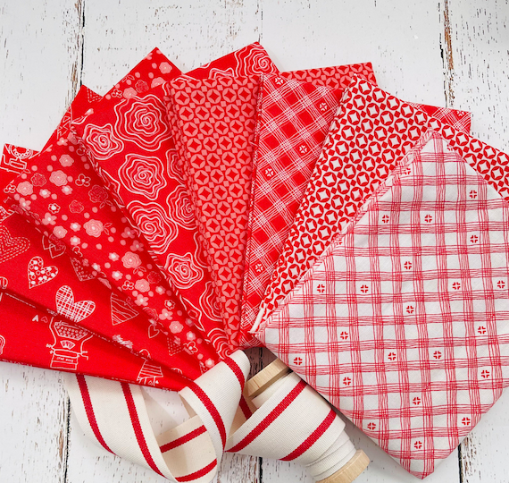 From The Heart- Fat Quarter Bundle (8 Fabrics) by Sandy Gervais for Riley Blake Designs