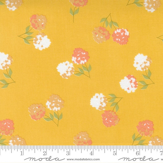 Cozy Up- 1/2 Yard Increments, Cut Continuously (29121 14 Clover Floral Sunshine) by Corey Yoder for Moda Fabrics