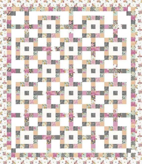 """Jelly and Toast Paper Quilt Pattern by Charisma Horton- P161- Finished Quilt Size 66"""" x 76"""""""