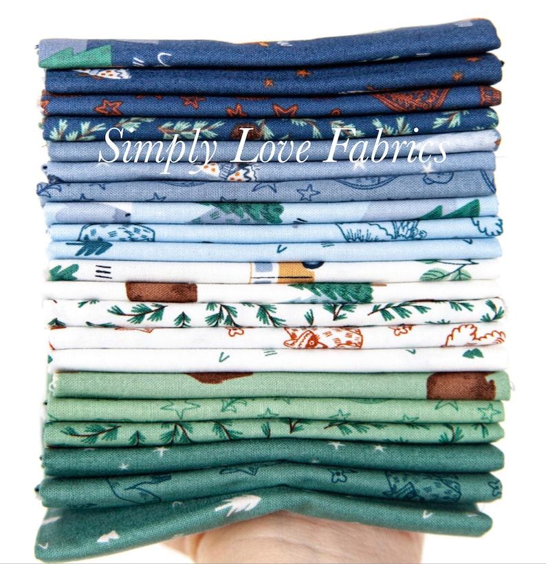 21 Fabrics Camp woodland by Nat\u00e0lia Juan Abell\u00f3 for Riley Blake Designs 12 Yard Bundle